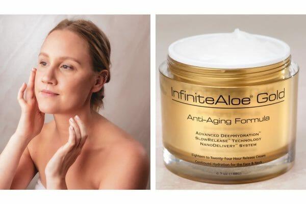 InfiniteAloe Gold Anti-Aging Cream display