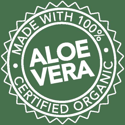 Made with certified organic Aloe Vera