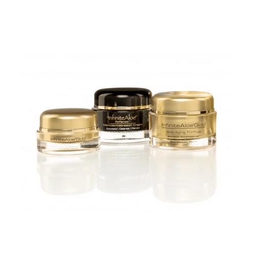 InfiniteAloe Anti-Aging Gold and Microdermabrasion Cream Bundle