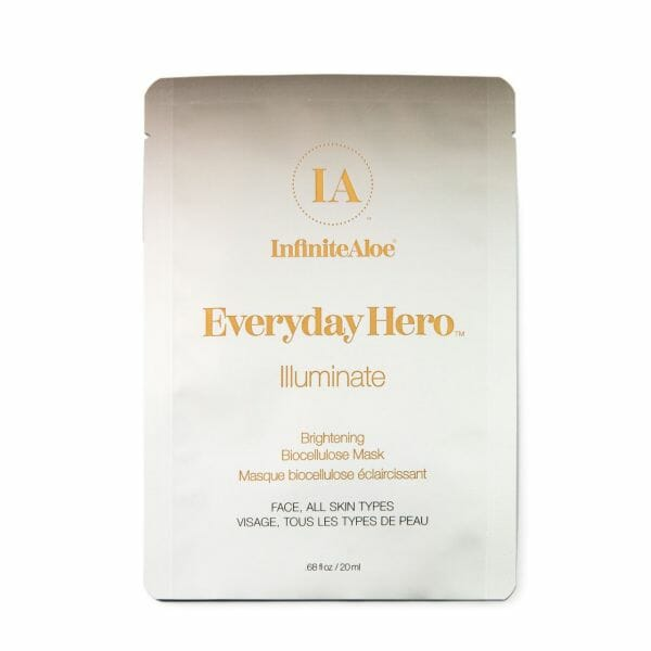 InfiniteAloe Everyday Hero Illuminate Brightening Biocellulose Mask